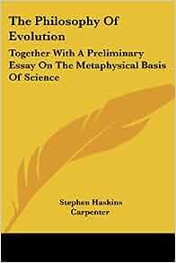 units of evolution a metaphysical essay