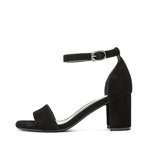 34 donna da da Spessa con fibbia cinturino sandali alti tacchi con casual Nero donna estate con scarpe DHG sandali UCXqC