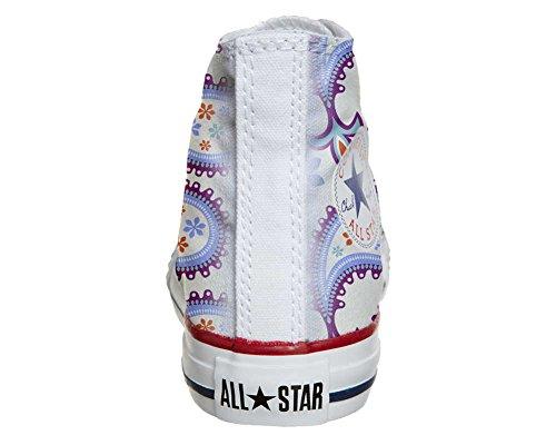 Converse All Star Hi Personnalisé et Imprimés chaussures coutume, Sneaker Unisex (produit Italien artisanal) Decorative Paisley