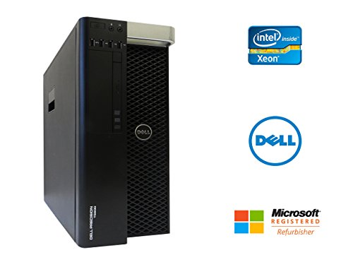 (Dell Precision T5600 Workstation Desktop PC Intel Xeon 16 Core 2.6GHz 32GB RAM 240GB SSD + 2TB HD Dual NVIDIA GeForce GTX 1050 Ti 4GB Graphics Cards Windows 10 Pro 64-bit (Certified Refurbished))