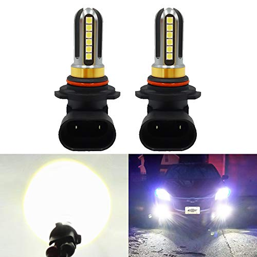 LED Fog Lights Bulbs Or DRL 9006 HB4, Super Bright Xenon White 6000K, 4000Lm,High Power for Fog Driving Light,24Pcs 3030SMD for Fog Light Lamps Replacement 2Yrs Warranty(Pack of 2) (9006 Super White)