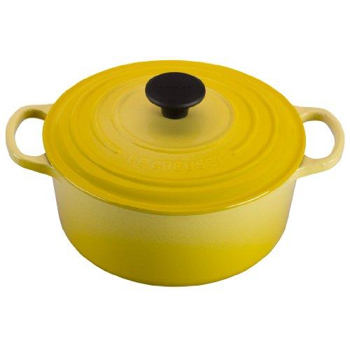 (Le Creuset Signature Enameled Cast-Iron 4-1/2-Quart Round French (Dutch) Oven, Soleil)