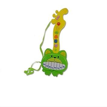 PvxgIo Único Guitarra eléctrica de Dibujos Animados de música Ligera Multifuncional (Modelos de Oso Verde): Amazon.es: Juguetes y juegos