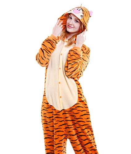 LadyKing Women's Tiger Onesie Unisex Anime Sleep Wear