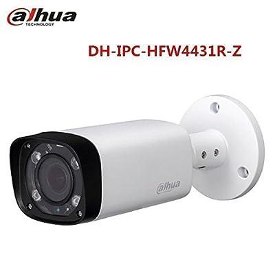 Bullet Camera HFW4431R-Z 4MP Network IP Camera POE IP66 Night Version Outdoor ONVIF H.265 2.7-12mm Motorized Lens International Version by Lagogo