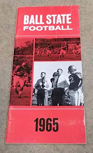 BALL STATE COLLEGE FOOTBALL MEDIA GUIDE - 1965 - EX/NM SHAPE (1965 Ncaa Football)