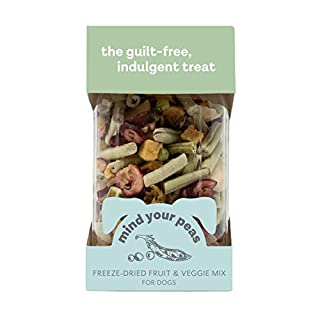 PetKnowledgy Mind Your Peas Natural Dog Treats - Freeze Dried Fruit & Veggie Mix - Grain Free Mix of Sweet Potatoes, Apples, Cranberries, Green Beans, Peas - Human Grade & Healthy (1 Pack)