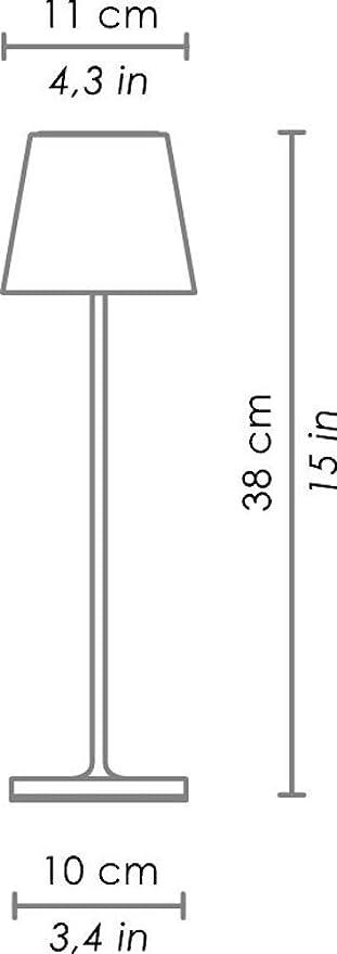 Zafferano Poldina Lampada Led Ricaricabile Da Tavolo Regolabile Corpo In Alluminio Protezione Ip54 Adatto Per Uso Esterno Interno Spina Eu 2 2 W Corten 38 Cm Amazon It Illuminazione