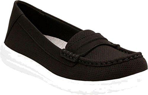 Womens Jocolin Perforated Maye CLARKS CLARKS Flat Womens Textile Black qwP1RCC