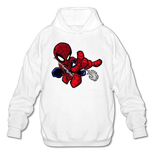 SAMMOI Ultimate Spider-Man Men's Athletic Hooded Sweatshirt M White