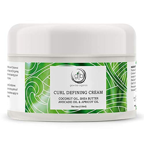 Grow Bar - Curl Defining Cream - smooth, non-sticky moisturizing gel cream formula, deeply penetrates and conditions wavy and curly hair to restore its definition and activate curls - size 4 oz (Best Hair Relaxer 2019)