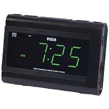 RCA RC142 Large Display Clock Radio with USB Charging