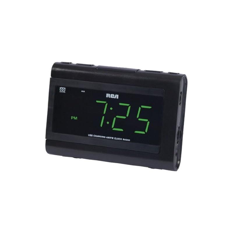 RCA Dual Wake Clock Radio with USB Charg