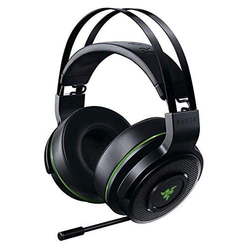 chollos oferta descuentos barato Razer Thresher Xbox One Auriculares Inalámbricos para juegos para Xbox One y PC hasta 16 horas de duración de la batería controlador de 50 mm Windows Sonic almohadillas de cuero sintético Negro Verde