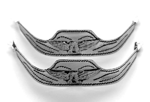 Western Express Men's Silver Square Toe Eagle Boot Tips