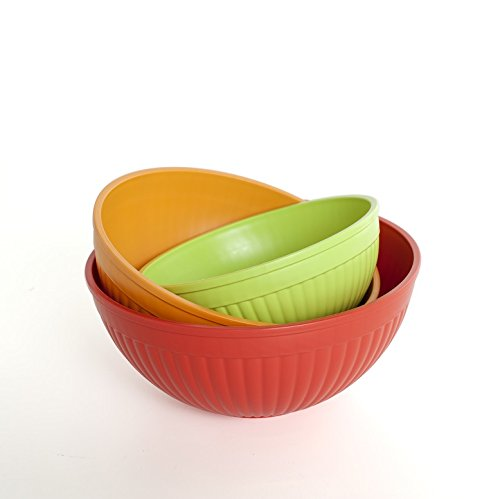 Nordic Ware Prep and Serve Mixing Bowl Set, 3-Piece Microwave Safe Mixing Bowls