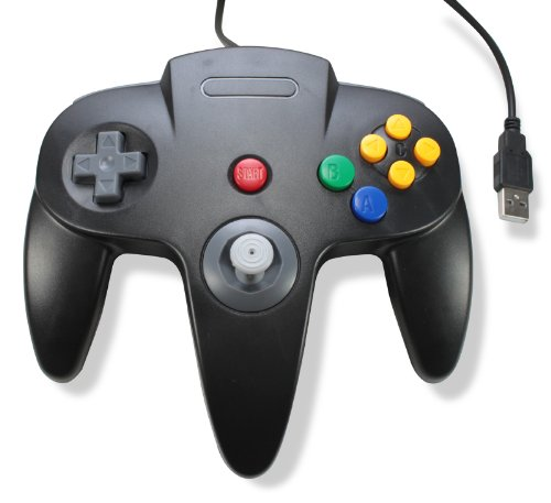 Classic Retro N64 Bit USB Wired Controller for PC and MAC -