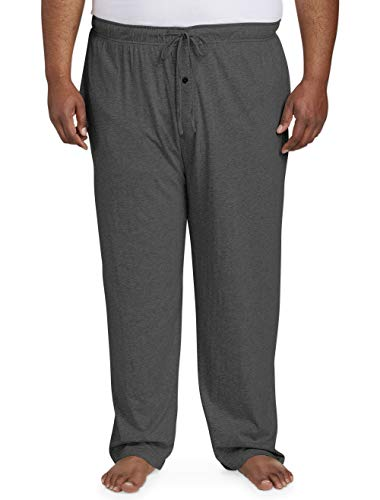 Amazon Essentials Men's Big and Tall Knit Pajama Pant fit by DXL, Charcoal Heather, 2X ()