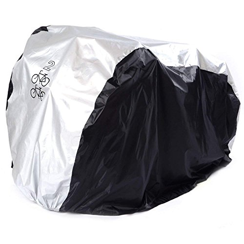 ANFTOP Waterdichte fietshoes voor 1 – 2 fietsen, waterdichte fietsbeschermhoes voor binnen en buiten, 200 x 75 x 110 cm