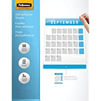 Fellowes Laminating Sheets, Self Adhesive, Letter Size, 3 Mil, 50/Pack (5221502)
