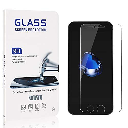 SONWO Schutzfolie für iPhone SE 2020 / iPhone 8 / iPhone 7, 1 Stück PanzerglasFolie Schutzfolie für iPhone SE 2020 / iPhone 8 / iPhone 7, 9H Härte, Anti-Öl, Anti-Bläschen, Anti-Kratzen