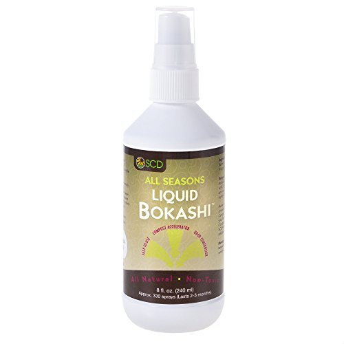 SCD Probiotics C201 All All Seasons Liquid Bokashi - 8 oz. compost accelerator, White