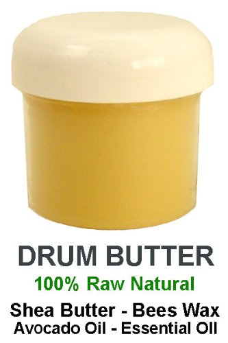 Original Drum Butter Hand Cream - Intensive Skin Therapy - 2oz Unscented (Djembe Natural)