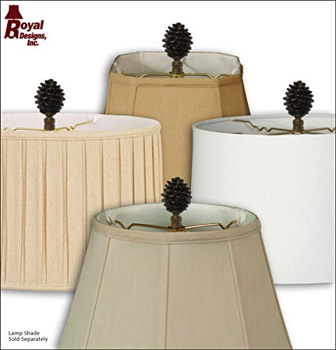 Royal Designs F-5064AB-1 Pine Cone Design Lamp Finial, Antique Brass by Royal Designs, Inc (Image #4)