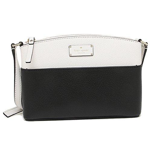 Kate Spade New York Grove Street Millie Leather Shoulder Handbag Purse (Black/Cement)