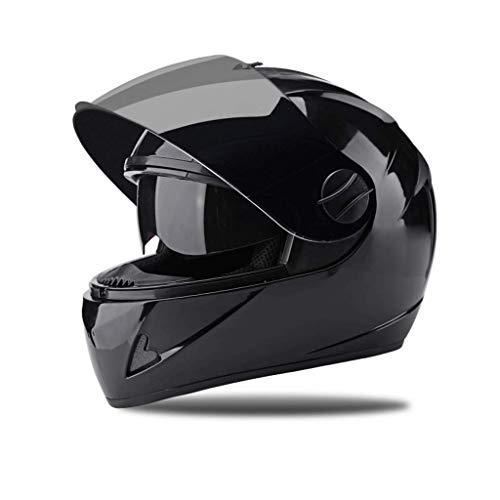 OUTO Descubrimiento del Casco Casco Exterior para Montar en Motocicleta Espejo de Alta definición con Casco Negro para...