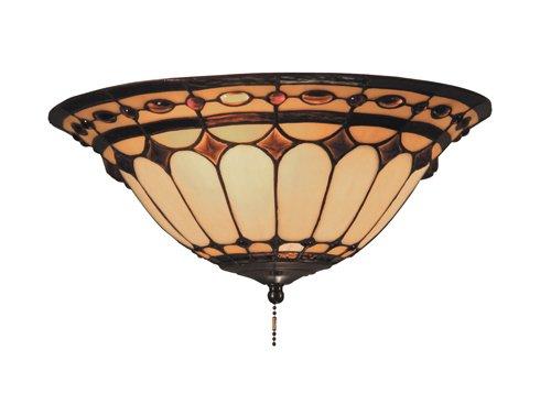 Elk 990-J Diamond Ring 2-Light Fan Kit/Ceiling Mount, Burnished (Antique Copper Light Kits Fan)