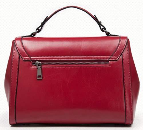 Borsette Messenger In Selvaggio Borse Spalla Bag Pelle Borsa Borse A Red Donna OazFdwqF