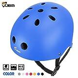 JBM international EPS foam Impact resistance & Ventilation Skateboard Helmet for Multi-sports, Medium - Blue