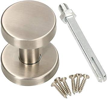 KOTARBAU - Pomo de acero inoxidable para puerta, no giratorio, forma de cilindro