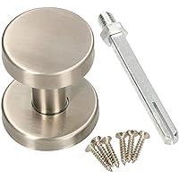 KOTARBAU Deurknop van roestvrij staal, deurknop, niet draaibaar, kogelknop, cilindervorm, deurgreep, deurklink…