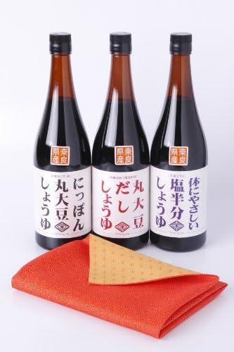 ニシキ醤油 和風エコギフト3本セット 風呂敷付き 720mlx3