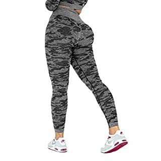 Women's High Waist Active Energy Leggings Slimming Seamless Compression Fit Pants Workout Tights Tummy Control S