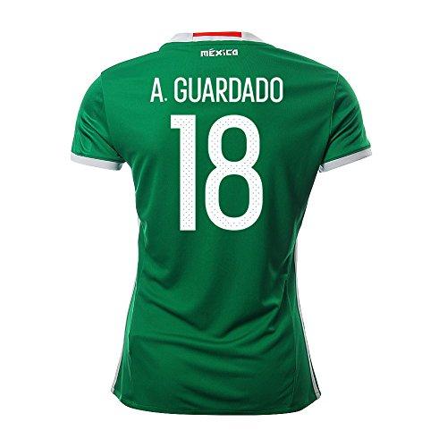 マウスピース妖精航空便A. GUARDADO #18 Mexico Women's Home Jersey COPA America 2016(Authentic name & number)/サッカーユニフォーム メキシコ ホーム用 A. グアルダード レディース向け