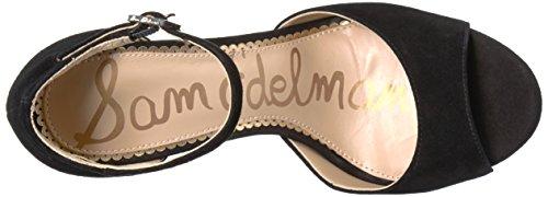 Wallace Edelman Nero In Camoscio Sandalo Tacco Femminile Sam fzFnqwfr