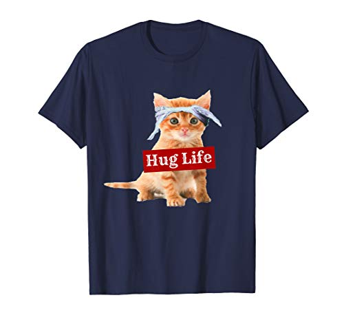 - Hug Life Kitty Tee Shirt T-Shirt Kitten Kitteh Cat Thug Gang