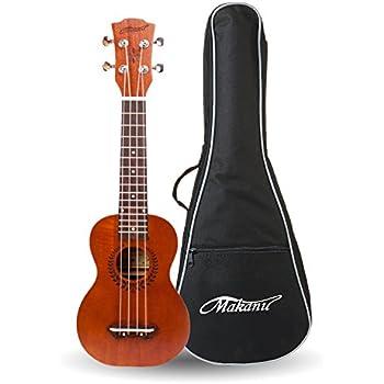 Makanu Soprano Ukulele 21 Inch Mahogany Ukulele Beginners Kids Guitar for Professional - Matte Finish