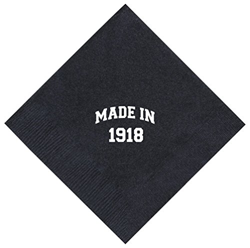 100th Birthday Gifts Made 1918 100th Birthday Gifts for Centenarians 50 Pack 5x5