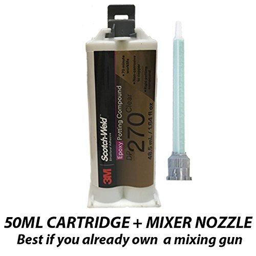3M Scotch-Weld Epoxy Potting Compound DP270 Clear, 1.69 fl oz (Pack of 1) ()