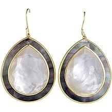 Ippolita Ondine 18K Yellow Gold Quartz and Mother of Pearl Teardrop Earrings
