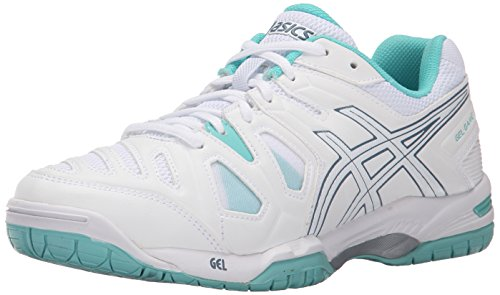 ASICS Women's Gel Game 5 Tennis Shoe, Pink Glow/White/Grape, 5 M US