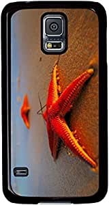 Evening-Beach-Starfish-Close-Up Cases for Samsung Galaxy S5 I9600 with Black sides
