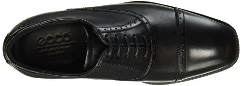ECCO Edinburgh, Zapatos de Cordones Derby para Hombre Negro (BLACK01001)