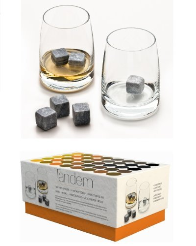 Tandem Whiskey Set - 2 Scotch Tumblers with Chilling Stones