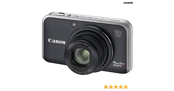 Canon PowerShot SX210 IS - Cámara Digital Compacta 14.1 MP: Amazon.es: Electrónica