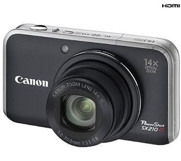 Canon PowerShot SX210 IS - Cámara Digital Compacta 14.1 MP - Negro